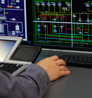 Computer system running Building Automation Software